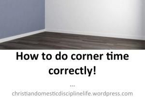 how-do-corner-time